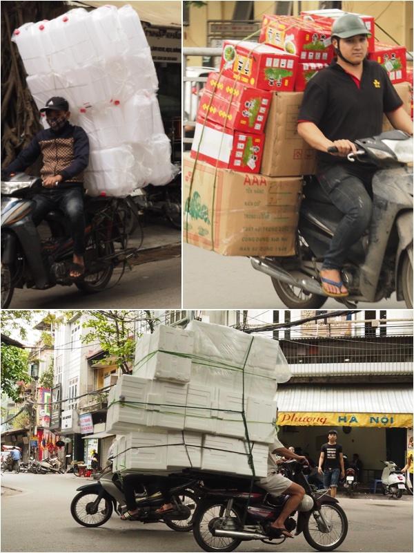 Boxes on motorbike