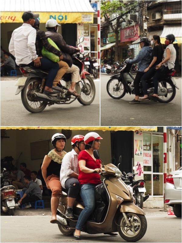 Friends on motorbike