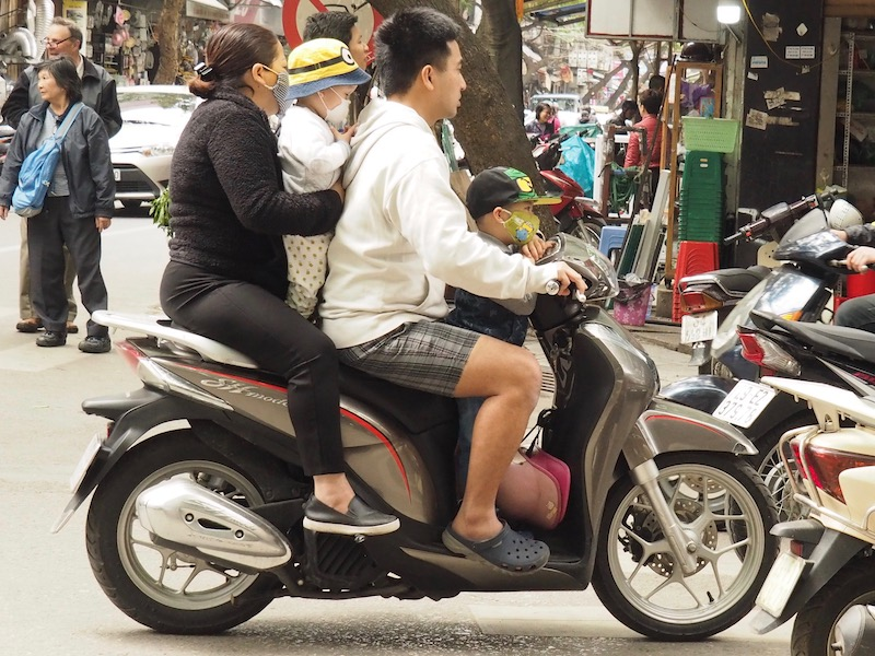 Hanoi Family on Motorbike