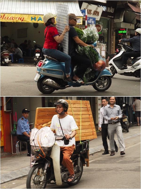 Homewares on motorbike