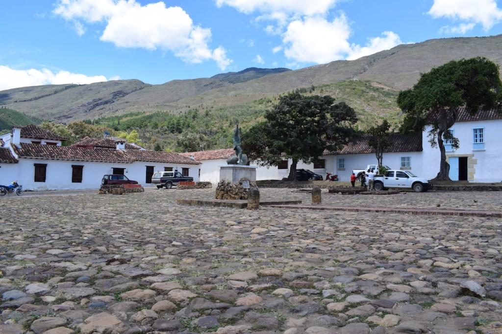 Mountains surround the town of Villa de Leyva