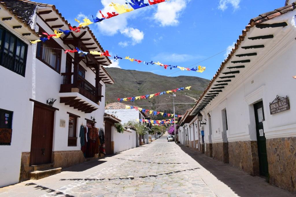 The cobblestone streets of Villa de Leyva