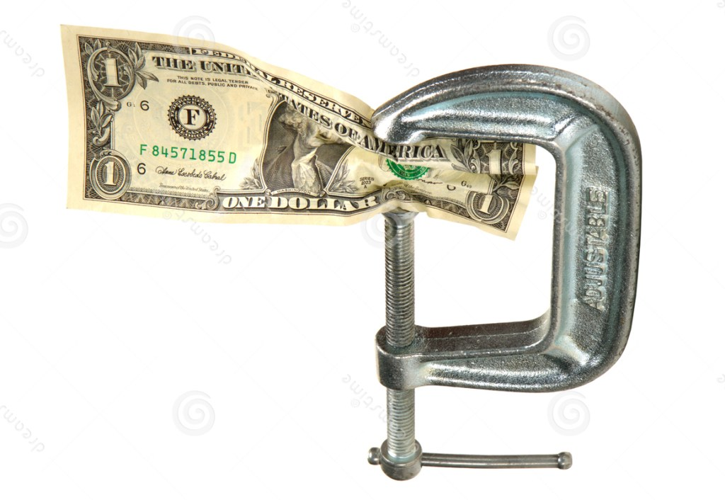 cash-squeeze-dollar-bill-money-tight-vise-clamp