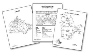 Canada and Provinces Printable, Blank Maps, Royalty Free