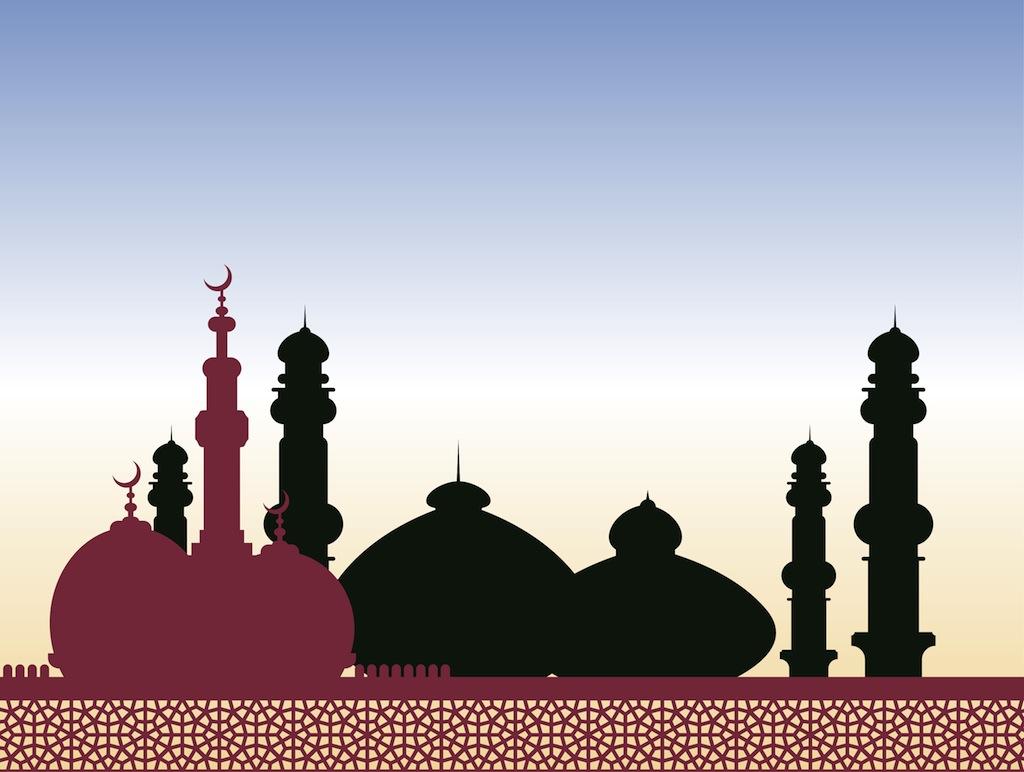 Mosque Vector Vector Art  Graphics  freevectorcom