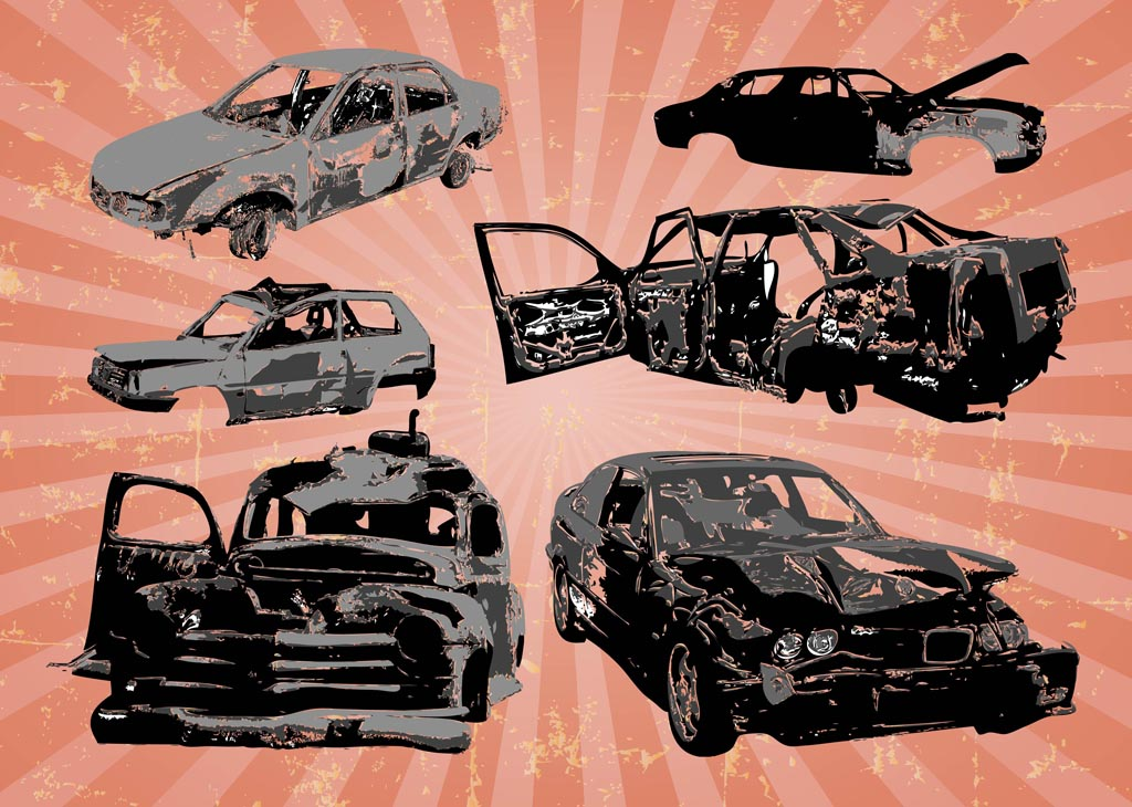 Car Wrecks Vectors Vector Art Amp Graphics Freevector Com