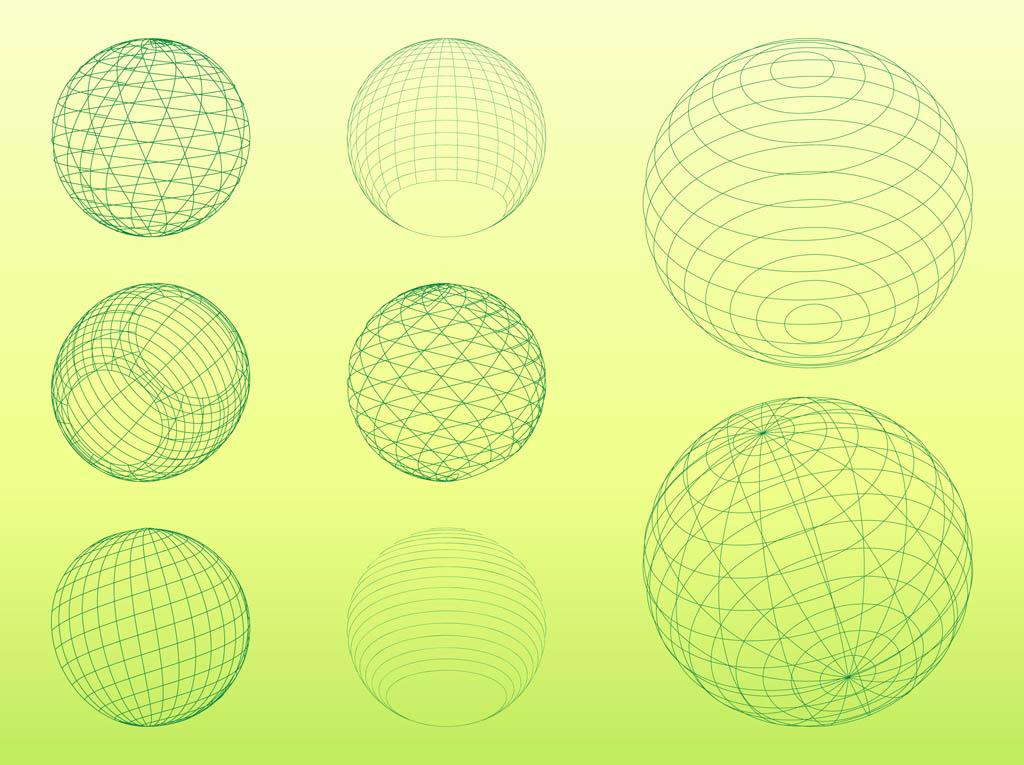 3 d wireframe spheres