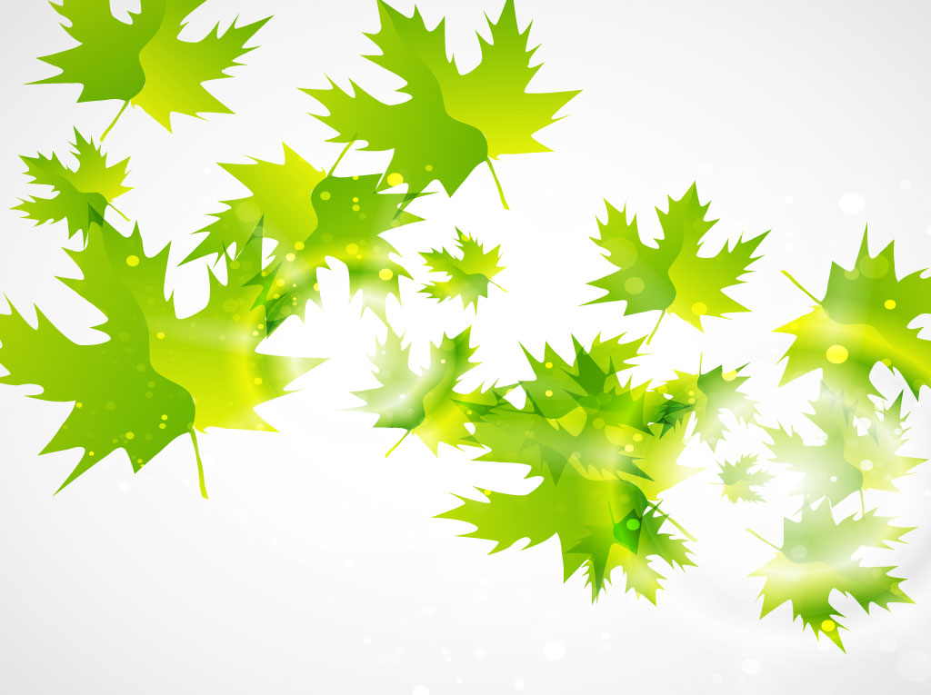 Fall Of The Leafe Wallpaper Green Leaf Vector Background Vector Art Amp Graphics