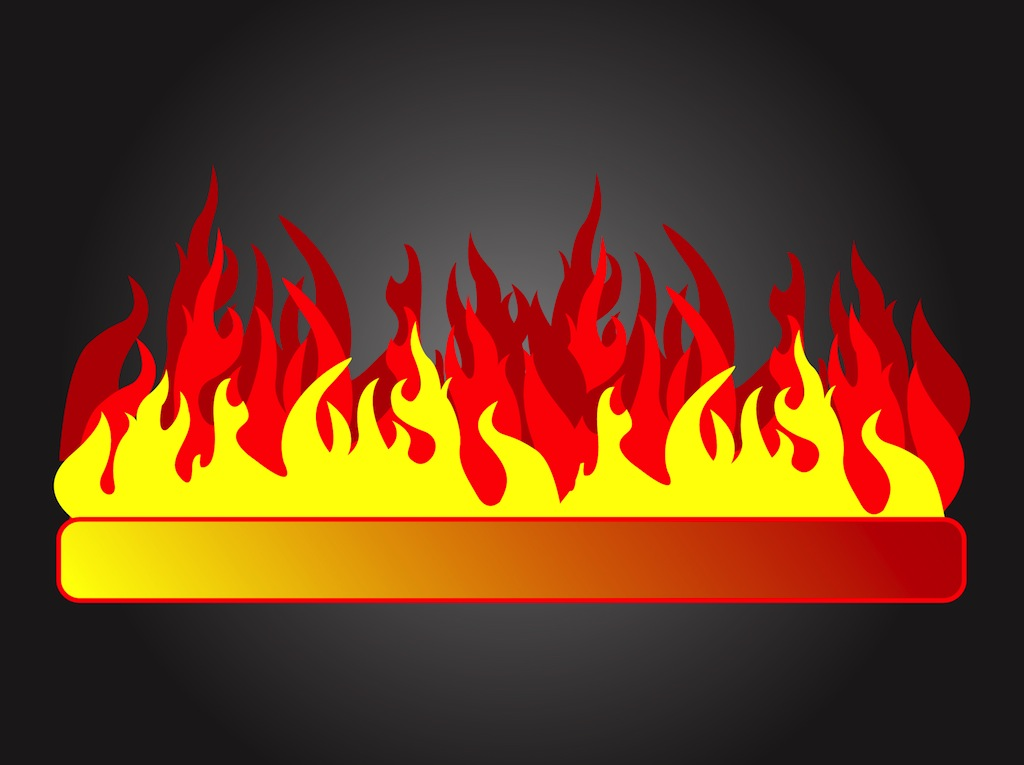 banner with flames vector