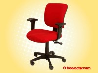 Red Office Chair Vector Art & Graphics | freevector.com