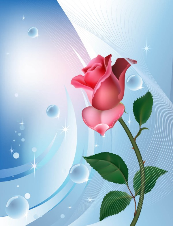 Rose Background Template Vector Art & Graphics