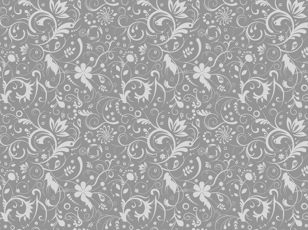 Gray Floral Pattern Vector Art & Graphics   freevector.com