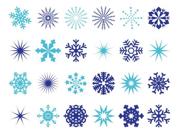 snowflakes graphics vector art