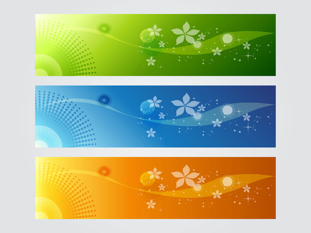 colorful banner graphics vector