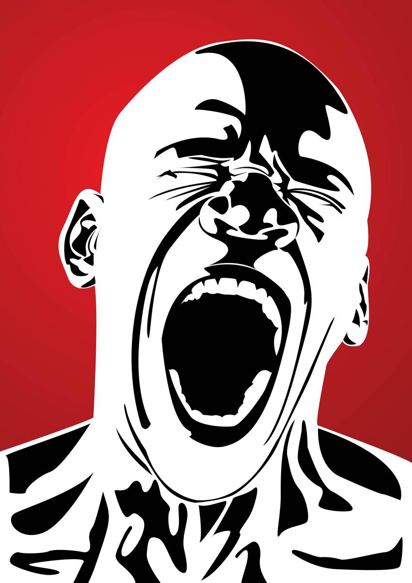 Cartoon Face Shouting
