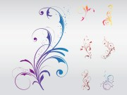 swirly floral design vector art