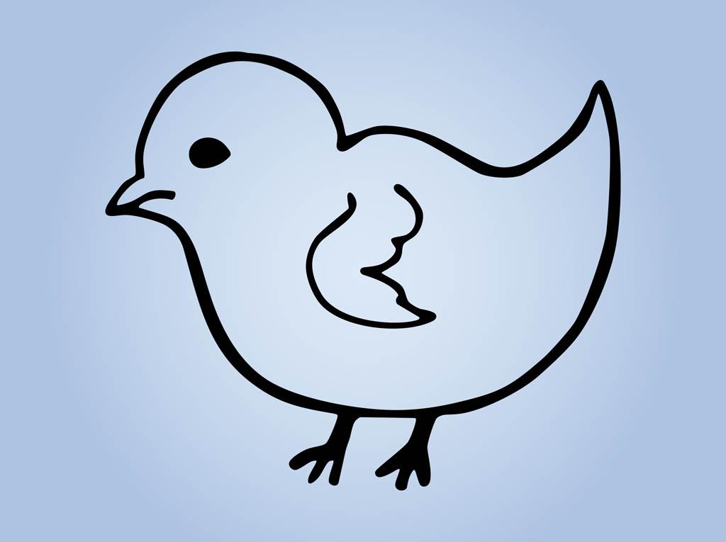 Bird Outlines Vector Art Graphics Freevector Com