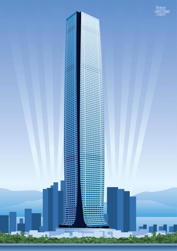 Hong Kong Skyscraper Vector Art & Graphics