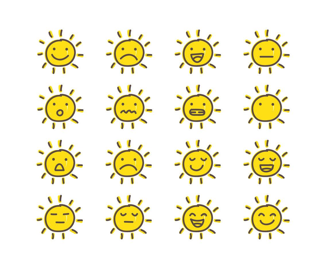 Cartoon Sun Hand Draw Vector Art Amp Graphics