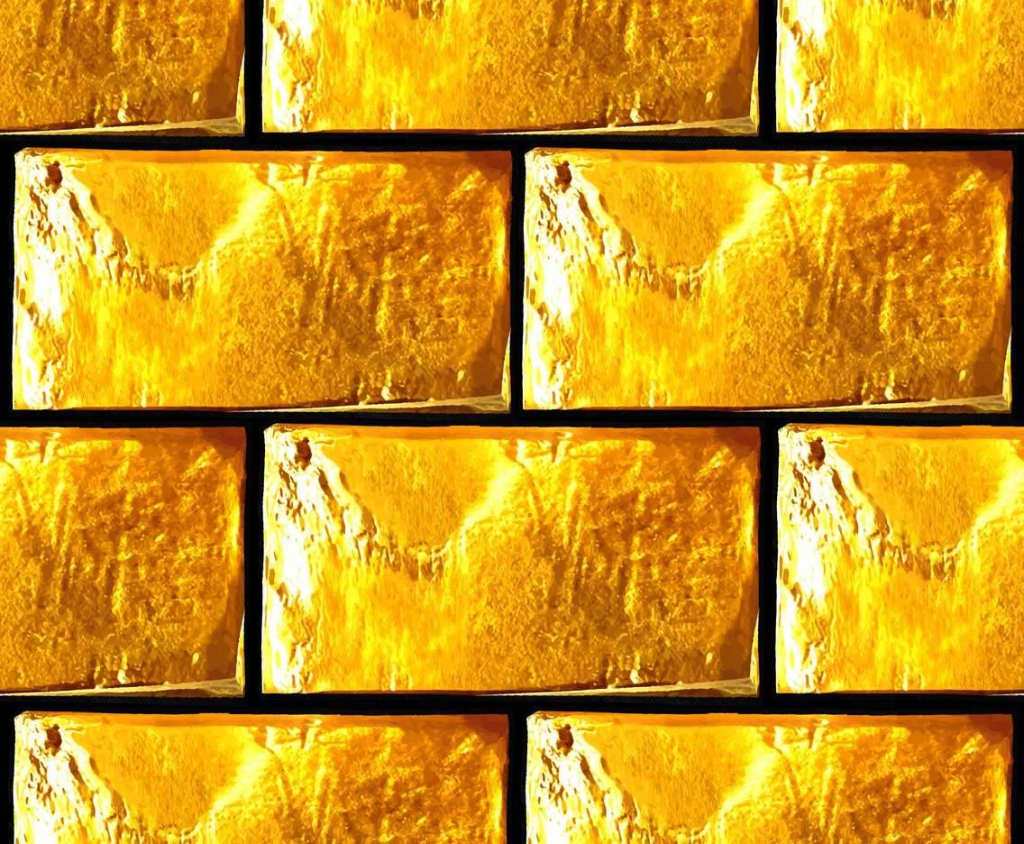 3d Brick Pattern Wallpaper Vector Grunge Golden Brick Wall Vector Art Amp Graphics