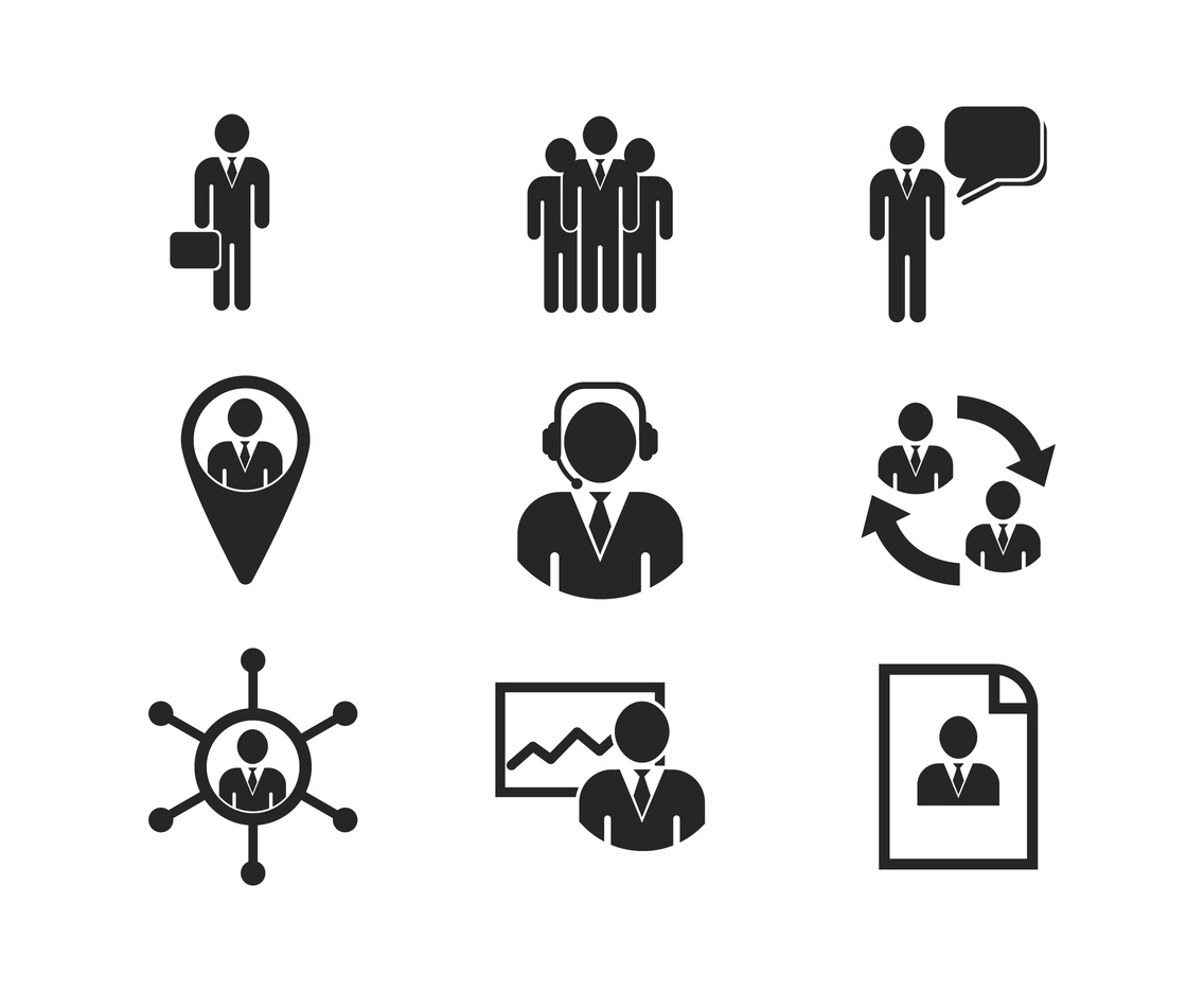 Free Business Person And Management Icon Vector Art