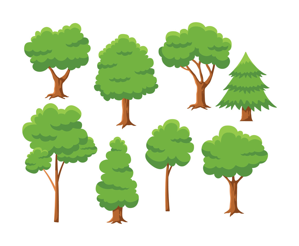 free cartoon tree vector
