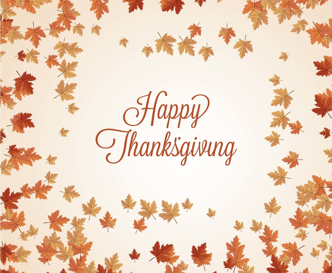Fall Give Thanks Wallpaper Thanksgiving Background Vector Vector Art Amp Graphics