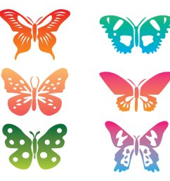 colorful butterfly clip art vector [ 1136 x 936 Pixel ]