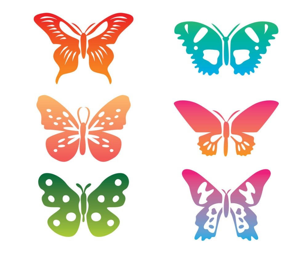 medium resolution of colorful butterfly clip art vector