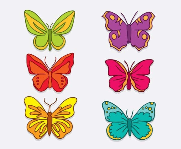 Hand Drawn Butterfly Clip Art Vector & Graphics