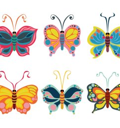 beautiful butterfly clipart vector [ 1136 x 936 Pixel ]