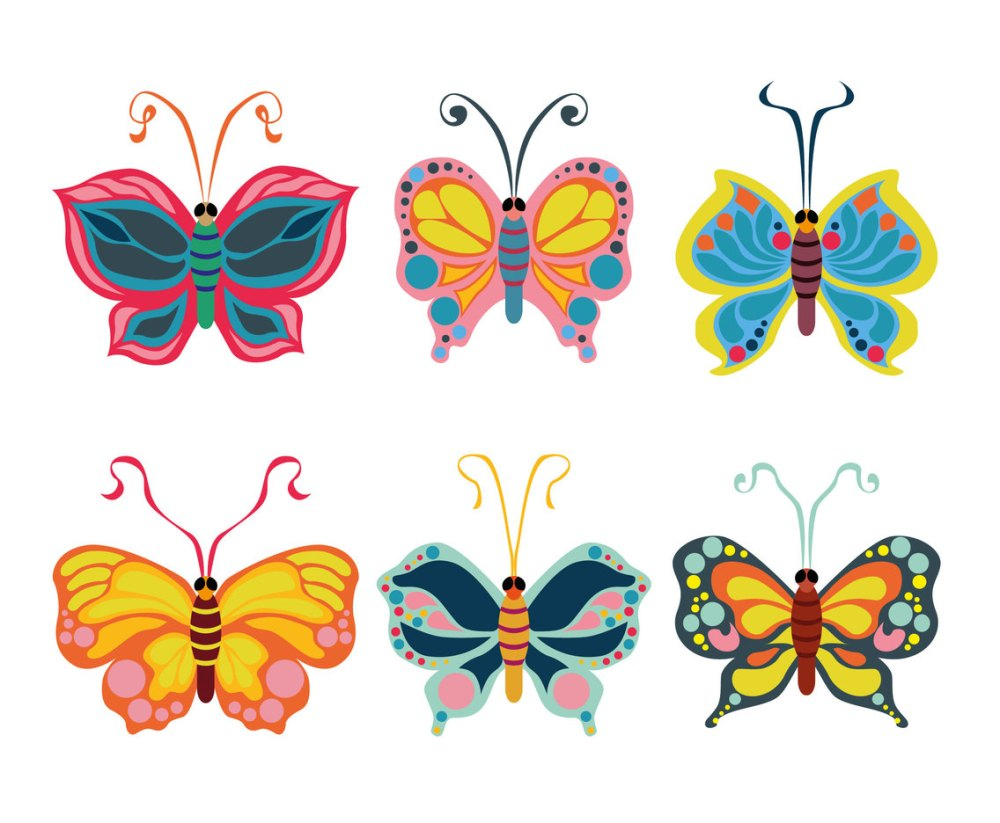 medium resolution of beautiful butterfly clipart vector