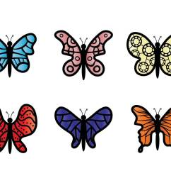 butterfly clip art vector [ 1136 x 936 Pixel ]