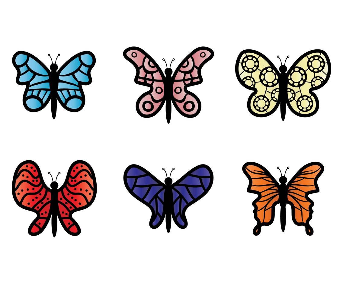 hight resolution of butterfly clip art vector