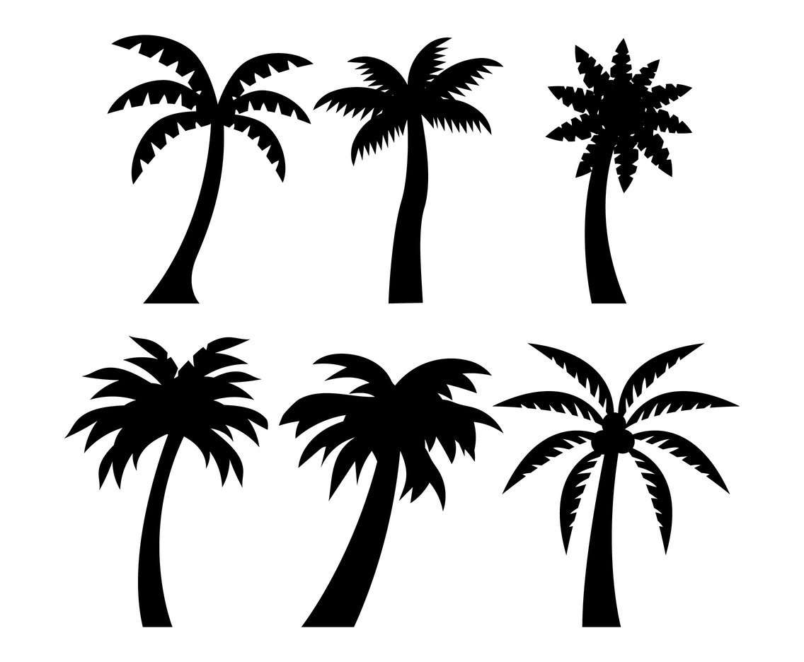 Palm Tree Silhouette Vector Art Amp Graphics