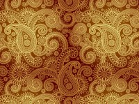 Golden Damask Pattern Vector Art & Graphics