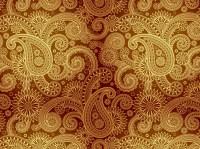 Golden Damask Pattern Vector Art & Graphics | freevector.com