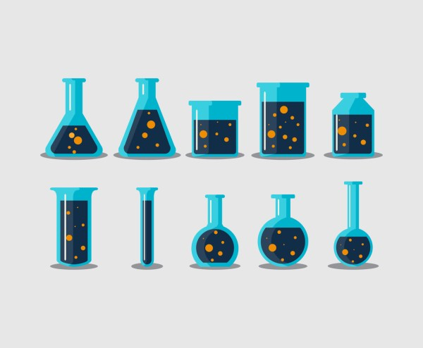 Chemical Science Bottle Vector Art & Graphics