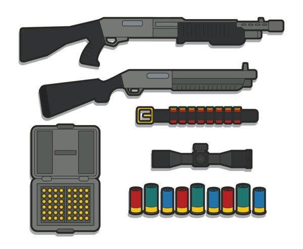 Shotgun Vector Art & Graphics