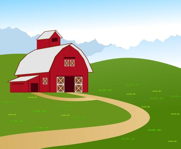 Vector Illustration Of Barn Farm Art & Graphics