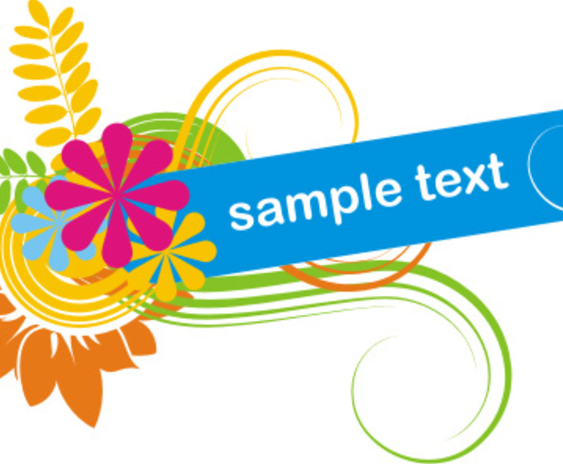 colorful banner vector art