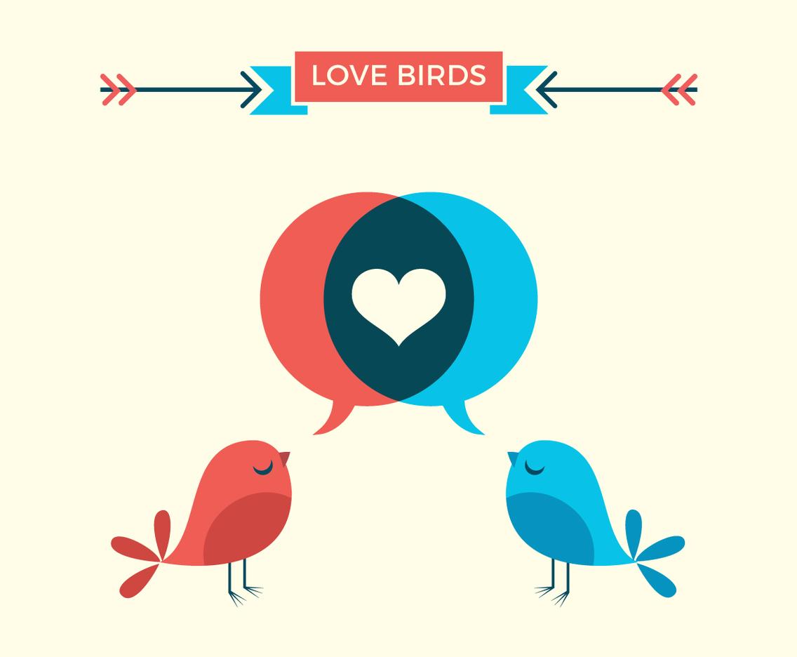 Download Cute Love Birds Vector Art & Graphics   freevector.com