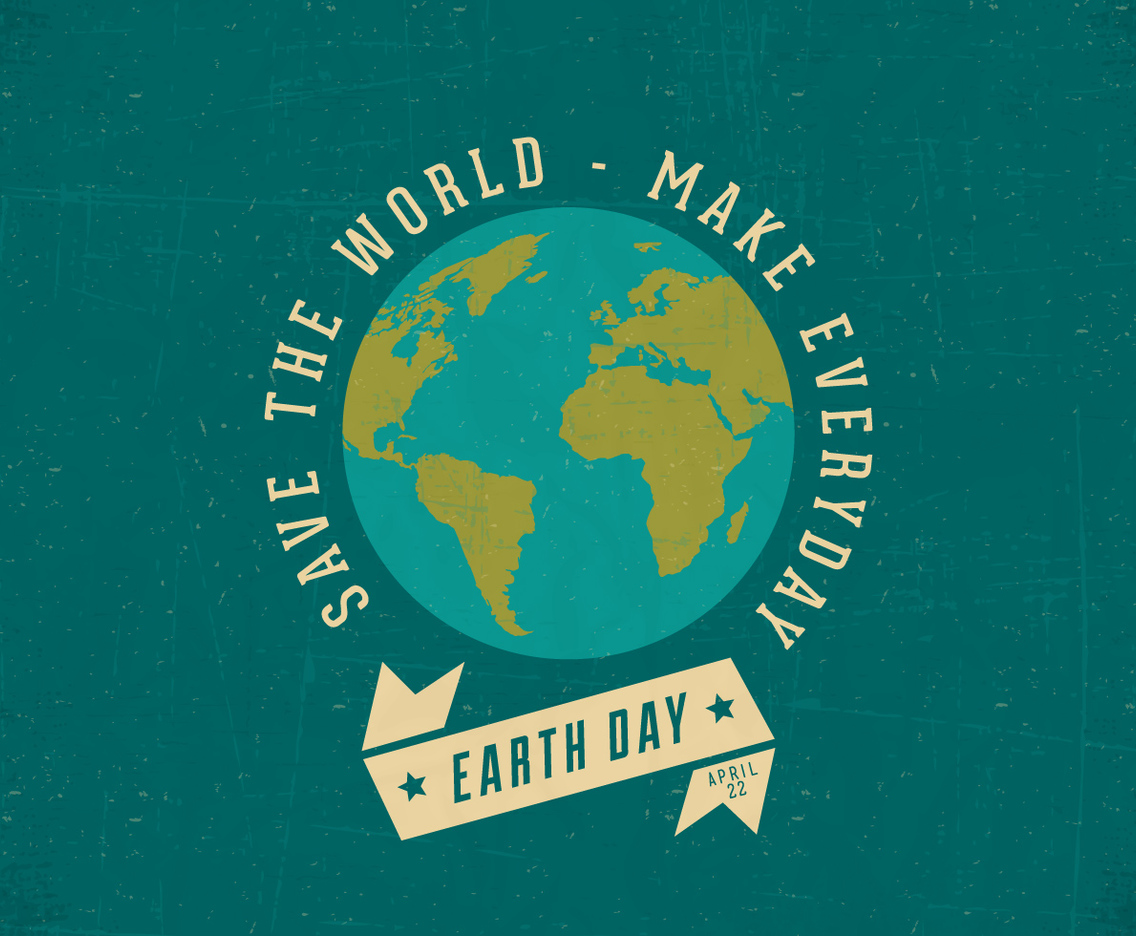 Retro Earth Day Poster Vector Art Amp Graphics