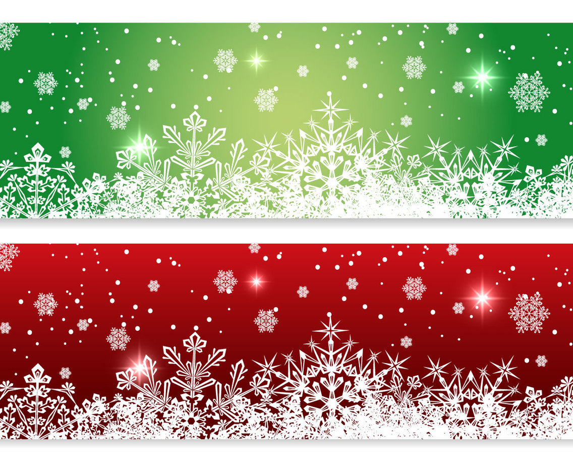 Red And Green Christmas Banners Vector Art Amp Graphics