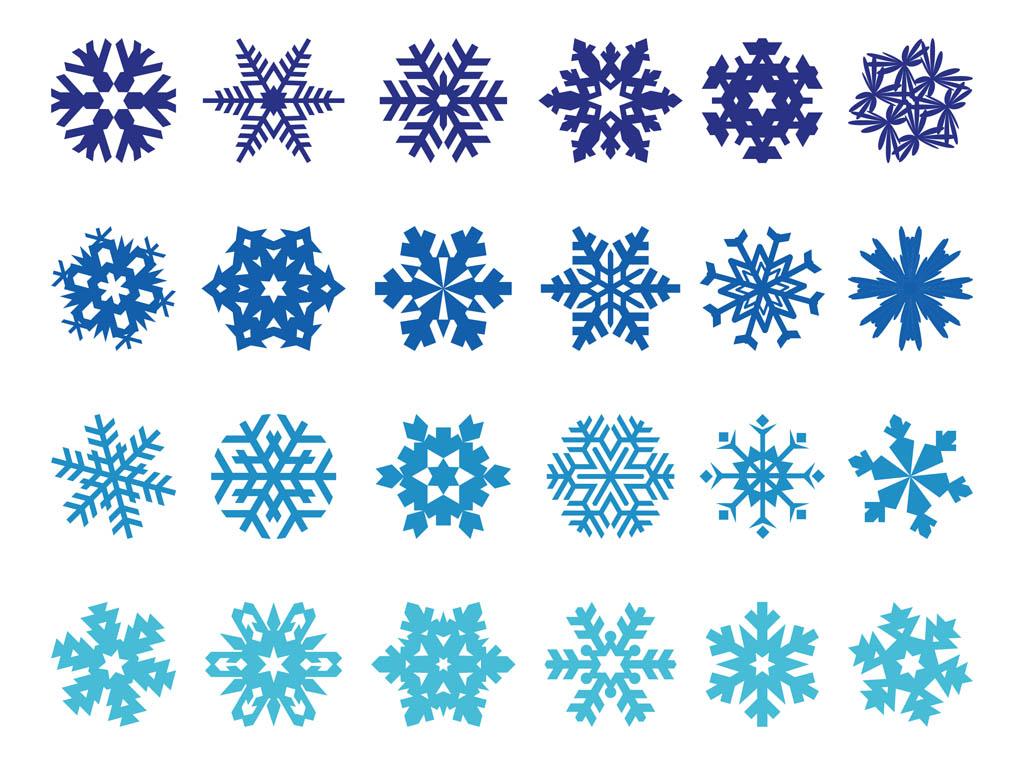 snowflakes pack vector art