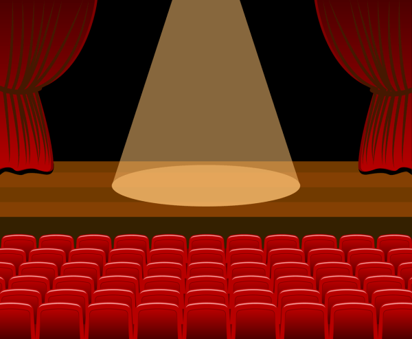 Theatre Stage Vector Art & Graphics