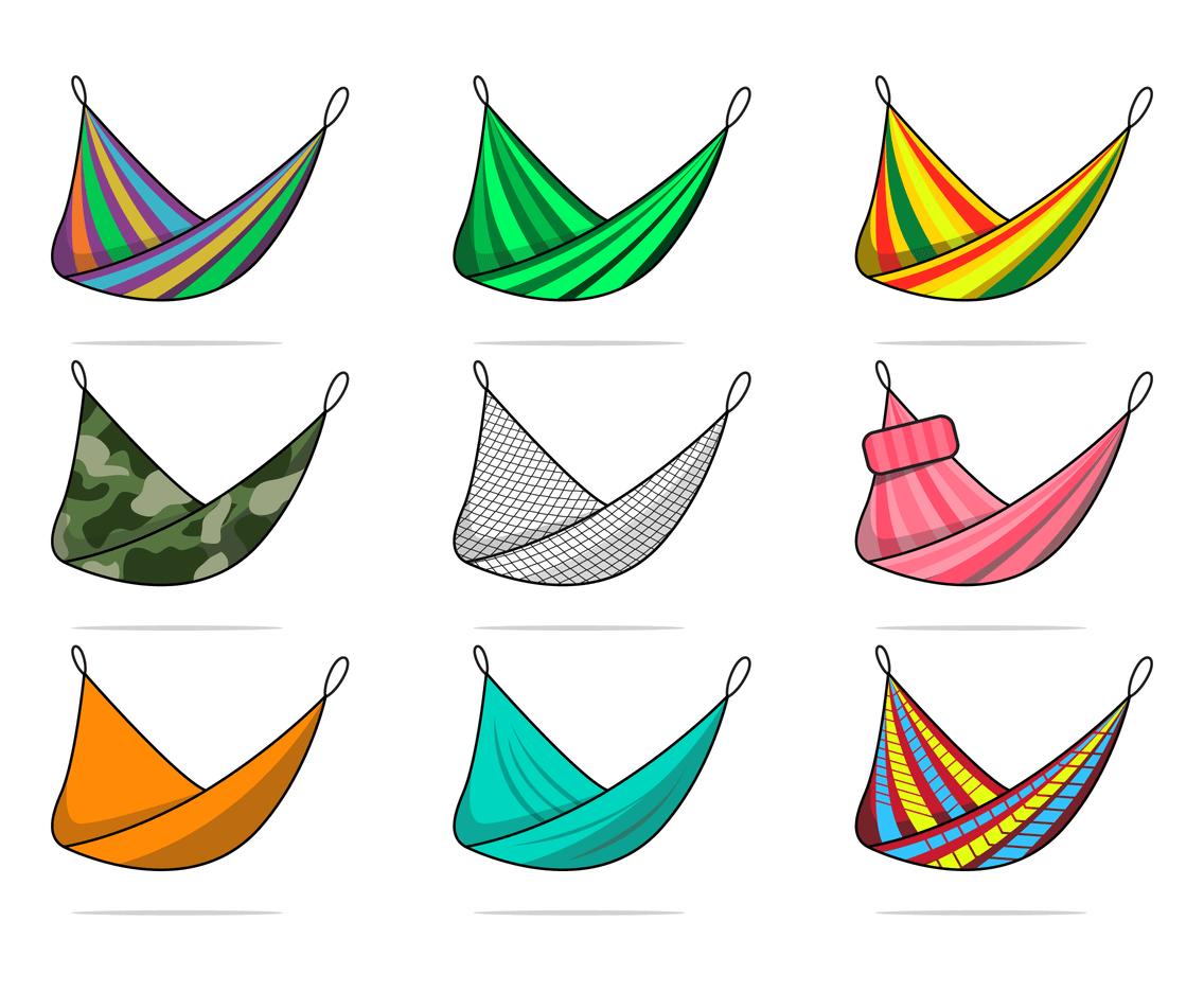 hammock vector with many