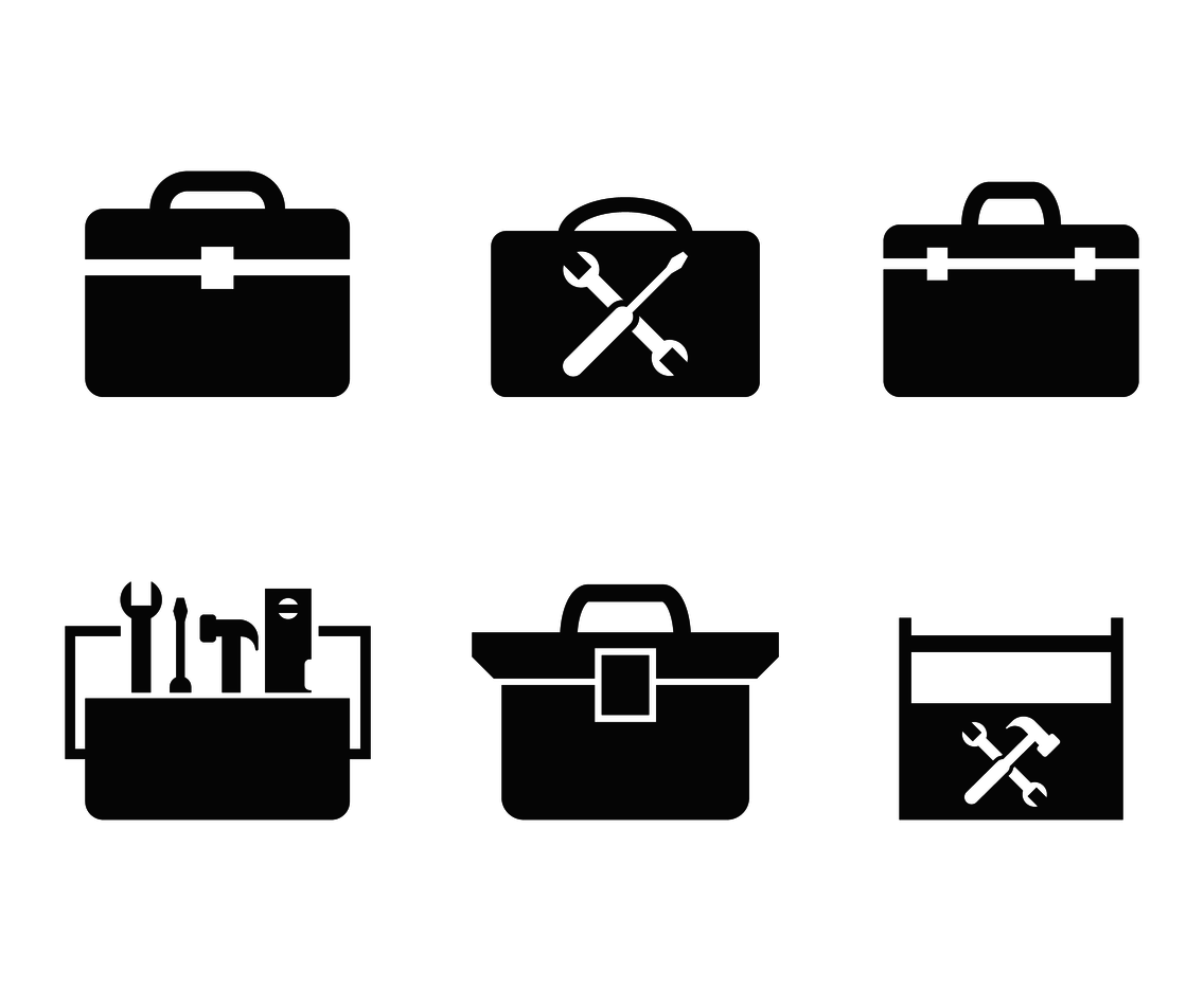 Toolbox Icon Vector Vector Art Amp Graphics