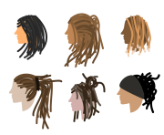dreadlock vector art & graphics