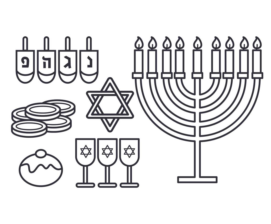Hanukkah Vector Set Vector Art Amp Graphics